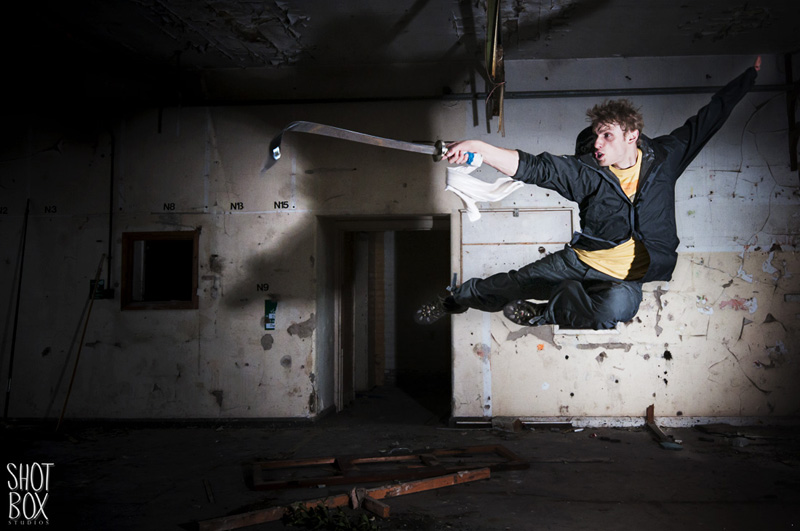 Stuntman Andy Lister